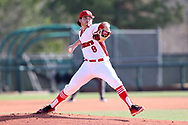CARY, NC - FEBRUARY 23: Saint John's Sean Mooney. The Monmouth University Hawks played the Saint John's University Red Storm on February 23, 2018 on Field 2 at the USA Baseball National Training Complex in Cary, NC in a Division I College Baseball game. St John's won the game 3-0.