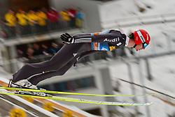 30.12.2011, Schattenbergschanze / Erdinger Arena, GER, Vierschanzentournee, FIS Weldcup, Probedurchgang, Ski Springen, im Bild Andreas Wank (GER) // Andreas Wank of Germany  during the trial round at 60th Four-Hills-Tournament, FIS World Cup in Oberstdorf, Germany on 2011/12/30. EXPA Pictures © 2011, PhotoCredit: EXPA/ P.Rinderer
