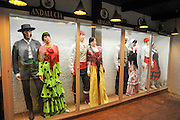 Display of traditional Spanish clothes from various regions
