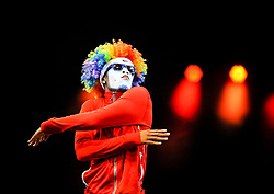 Pictured: Fresh the Clownss - Hip Hop Under the Big Top (USA)<br /> <br /> Performers from across the globe came together at the Edinburgh Festival to mark the 250th anniversary of circus performances.<br /> <br /> © Dave Johnston / EEm