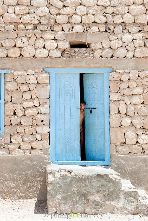 Local man in home at Qalansia, Socotra, Yemen