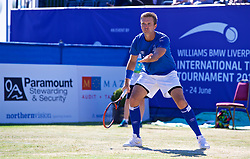 LIVERPOOL, ENGLAND - Sunday, June 24, 2018: Robert Kendrick (USA) during day four of the Williams BMW Liverpool International Tennis Tournament 2018 at Aigburth Cricket Club. (Pic by Paul Greenwood/Propaganda)