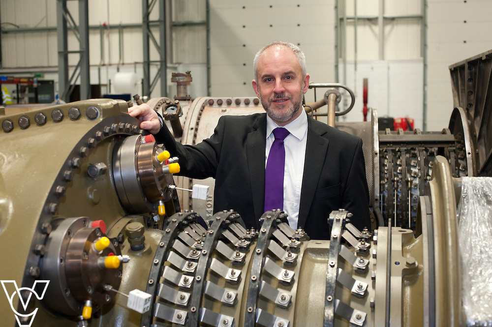 Yorkshire Bank's business development manager David Burgess pictured at Turbine Efficiency's premises in Witham St Hughs, Lincolnshire.<br /> <br /> Date: November 27, 2014