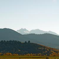 Spanish Peaks above southern Gallatin Valley near Bozeman, Montana
