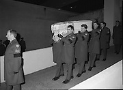 Irish Soldiers Bodies Returned From Lebanon. (R99)..1989..24.03.1989..03.24.1989..24th March 1989..While serving on the peacekeeping mission with the UN three Irish soldiers lost their lives when the vehicle they were in struck a land mine. The mine had ben planted by a Hezbollah Group who were targeting the Israeli military. The Soldiers; Corp Fintan Heneghan, Pte Mannix Armstrong and Pte Thomas Walshe were serving with C Company, 64th Infantry Batallion in Brashit, Sth Lebanon...Picture shows the flag draped coffins being removed from the mortuary at Dublin Airport to begin the journey to Arbour Hill Church,Dublin.