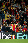 Ignatius Ganago of Lens celebrates his goal during the French championship Ligue 1 football match between RC Lens (Racing Club de Lens) and Paris Saint-Germain (PSG) on September 10, 2020 at Stade Felix Bollaert in Lens, France - Photo Juan Soliz / ProSportsImages / DPPI