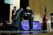 SHOT 5/10/15 3:14:04 PM - Naropa University Spring 2015 Commencement ceremonies at Macky Auditorium in Boulder, Co. Sunday. Parker J. Palmer, a world-renowned author and activist known for his work in education and social change, delivered the commencement speech to more than 300 graduate and undergraduate students along with Naropa faculty and graduate's family members. Naropa University is a private liberal arts college in Boulder, Colorado founded in 1974 by Tibetan Buddhist teacher and Oxford University scholar Chögyam Trungpa. (Photo by Marc Piscotty / © 2014)