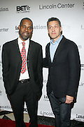 l to r: Greg Gates and John Tutturro at The ImageNation celebration for the 20th Anniversary of ' Do the Right Thing' held Lincoln Center Walter Reade Theater on February 26, 2009 in New York City. ..Founded in 1997 by Moikgantsi Kgama, who shares executive duties with her husband, Event Producer Gregory Gates, ImageNation distinguishes itself by screening works that highlight and empower people from the African Diaspora.