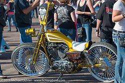 Custom bike show at Arizona Bike Week's Cycle Fest at Westworld. USA. April 5, 2014.  Photography ©2014 Michael Lichter.