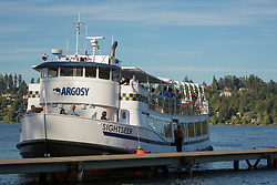 United States, Washington, Mercer Island, Argosy ship day cruise on Lake Washington