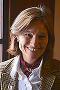 Elisa Trabal de Bouza, owner, tasting a glass of wine. Bodega Bouza Winery, Canelones, Montevideo, Uruguay, South America