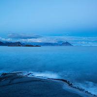 Coastal landscape, Stamsund, Vestvågøya, Lofoten Islands, Norway