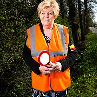Belgie, Vlaanderen, Westhoek, 02-04-2014.<br /> Wielrennen, Elite Mannen, 3-daagse van de Panne.<br /> Signaalgevers bij de wielerkoers 3-Daagse van de Panne.<br /> <br /> Naam : Keno Kristian, 8 jaar actief als signaalgever.<br /> <br /> Foto: Klaas Jan van der Weij