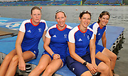 Shunyi, CHINA.  GBR W4X,  left to right,  Frances HOUGHTON , Debbie FLOOD, Annie VERNON and Katherine GRAINGER, at the 2008 Olympic Regatta, Shunyi Rowing Course. Thursday 14.08.2008  [Mandatory Credit: Peter SPURRIER, Intersport Images]