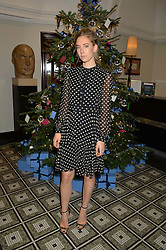 LONDON, ENGLAND 1 DECEMBER 2016: Vanessa Kirby at the Smythson & Brown's Hotel Christmas Party held at Brown's Hotel, Albemarle St, Mayfair, London, England. 1 December 2016.