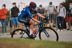 Letizia Borghesi (ITA) at the 2020 UEC Road European Championships - Under 23 Women Road Race, a 81.9 km road race in Plouay, France on August 26, 2020. Photo by Sean Robinson/velofocus.com