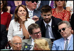 July 4, 2018 - London, London, United Kingdom - Wimbledon Tennis Championships-Day Three. The Duchess of Cambridge's Mother Carole Middleton sitting in the Royal Box with the Spanish footballer Gerard PiquŽ  Wimbledon Tennis Championships. (Credit Image: © Andrew Parsons/i-Images via ZUMA Press)