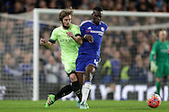Aleix Garcia of Manchester City intercepts Bertrand Traore of Chelsea. The Emirates FA Cup, 5th round match, Chelsea v Manchester city at Stamford Bridge in London on Sunday 21st Feb 2016.<br /> pic by John Patrick Fletcher, Andrew Orchard sports photography.