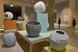 June 27, 2017 - London, UK - London, UK. ''Colour Catchers'', 2017.  Preview of ''Breathing Colour'', an exhibition by acclaimed designer Hella Jongerius, at the Design Museum, Kensington which comprises a series of newly commissioned installations exploring humans perceptions and connections to colour.  The exhibition runs from 28 June to 24 September 2017. (Credit Image: © Stephen Chung/London News Pictures via ZUMA Wire)
