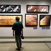 Photos of Mars at Michael Benson's photographic exhibit, Beyond: Visions of our Solar System, on display at the National Air and Space Museum in Washington DC