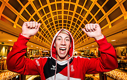 28.01.2014,  Marriott, Wien, AUT, Sochi 2014, Einkleidung OeOC, im Bild Thomas Diethart (Skisprung, AUT) // Thomas Diethart (Skijumping, AUT) during the outfitting of the Austrian National Olympic Committee for Sochi 2014 at the  Marriott in Vienna, Austria on 2014/01/28. EXPA Pictures © 2014, PhotoCredit: EXPA/ JFK