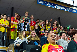 17-02-2019 NED: National Cupfinal Draisma Dynamo - Abiant Lycurgus, Zwolle<br /> Dynamo surprises national champion Lycurgus in cup final and beats them 3-1 / A fully packed Landstede hall with a fantastic atmosphere, Dynamo support