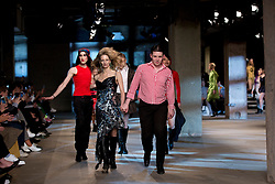Models on the catwalk during the Art of School from MAN Autumn/ Winter 2018 London Fashion Week show at Topman Showspace, London. PRESS ASSOCIATION Photo. Picture date: Sunday January 7, 2018. See PA story CONSUMER Fashion. Photo credit should read: Isabel Infantes/PA Wire