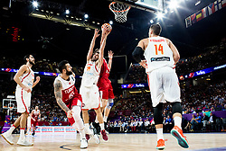 Fernando San Emeterio of Spain  vs Furkan Aldemir of Turkey during basketball match between National Teams of Spain and Turkey at Day 11 in Round of 16 of the FIBA EuroBasket 2017 at Sinan Erdem Dome in Istanbul, Turkey on September 10, 2017. Photo by Vid Ponikvar / Sportida
