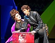 "4/24/2008/ -- GASTON DE CARDENAS/EL NUEVO HERALD -- MIAMI -- Elise Quagliata as Cornelia and Katherine Calcamuggio as Sesto in the Florida Grand Opera production of George Frideric Handel's ""Julius Caesar in Egypt"""