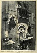 Sebil, Street fountain, Cairo. Wood engraving of from 'Picturesque Palestine, Sinai and Egypt' by Wilson, Charles William, Sir, 1836-1905; Lane-Poole, Stanley, 1854-1931 Volume 4. Published in 1884 by J. S. Virtue and Co, London