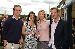 Left to right, TOM RUTHERFORD, NAOMI FRANKS,  KATE RUTHERFORD and HARRY RUTHERFORD at the Kuoni World Class Polo Day at Hurtwood Park Polo Club, Surrey on 28th May 2006.<br />