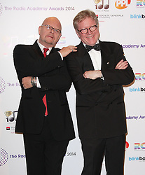 (L-R) JAMES WHALE AND DAVID JENSEN arrives for the Radio Academy Awards, London, United Kingdom. Monday, 12th May 2014. Picture by i-Images