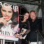 NLD/Amsterdam/20121001- Uitreiking Bachelorette List 2012, Bastiaan van Schaik en winnares Lonneke Engel