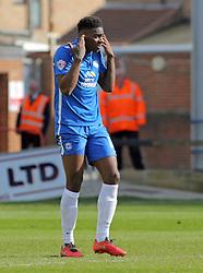 Ricardo Almeida Santos of Peterborough United after scoring an own goal - Mandatory by-line: Joe Dent/JMP - 23/04/2016 - FOOTBALL - ABAX Stadium - Peterborough, England - Peterborough United v Scunthorpe United - Sky Bet League One