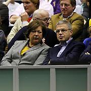 NLD/Rotterdam/20100214 - ABN - AMRO tennistoernooi 2010, finale, minister Ernst Hirsch Balin en partner Pauline
