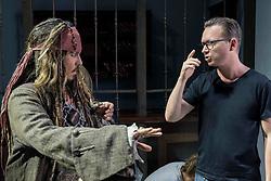"Disney's ""PIRATES OF THE CARIBBEAN: DEAD MEN TELL NO TALES""..L to R: Johnny Depp (Captain Jack Sparrow) and Director Espen Sandburg..©Disney Enterprises, Inc.  All Rights Reserved."