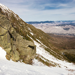 View from the headwall of King Ravine on the north side of Mount Adams in New Hampshire's White Mountains.