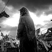 Ominous figure, London, England (February 2005)