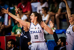 Lorela Cubaj of Italy reacts during basketball match between Women National teams of Italy and Slovenia in Group phase of Women's Eurobasket 2019, on June 30, 2019 in Sports Center Cair, Nis, Serbia. Photo by Vid Ponikvar / Sportida