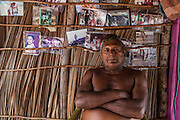 """Raimundo Brito, 61, the oldest member of the Queimada dos Britos community, says """"I will never leave the island even if they offer me a truck full of money"""". He was born in the oasis, lived all his life there and buried his father in the local cemetery.  The Brazilian Institute of the Environment and Natural Resources (IBAMA) is planning to remove them since they live in a National Park. The residents refuse to move since many of them were born there and lived all their lives in the Queimada. They claim that more than a threat, they are a protection to the Lençois do Maranhão."""