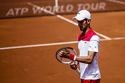 April 25, 2018 - Barcelona, Spain - Novak DJOKOVIC from Serbia during the Barcelona Open Banc Sabadell 66º Trofeo Conde de Godo at Reial Club Tenis Barcelona on 25 of April of 2018 in Barcelona. (Credit Image: © Xavier Bonilla/NurPhoto via ZUMA Press)
