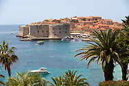 Stock photos of Dubrovnik Port with St John's Fort - Croatia .<br /> <br /> Visit our MEDIEVAL PHOTO COLLECTIONS for more   photos  to download or buy as prints https://funkystock.photoshelter.com/gallery-collection/Medieval-Middle-Ages-Historic-Places-Arcaeological-Sites-Pictures-Images-of/C0000B5ZA54_WD0s