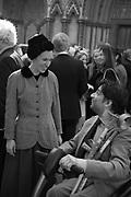 LADY FRANCES  VON HOFMANNSTHAL,, Service of thanksgiving for  Lord Snowdon, St. Margaret's Westminster. London. 7 April 2017