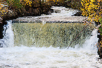 Imsvatnet, Sandnes, Norway. Colourful autumn colours. Waterfall.