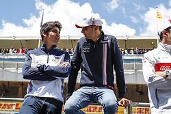 May 13, 2018 - Barcelona, Spain - Motorsports: FIA Formula One World Championship 2018, Grand Prix of Spain, ..#18 Lance Stroll (CAN, Williams Martini Racing), #31 Esteban Ocon (FRA, Sahara Force India F1 Team) (Credit Image: © Hoch Zwei via ZUMA Wire)