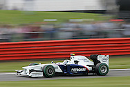 2009 Formula 1 Santander British Grand Prix at Silverstone in Northants, Great Britain. action from Friday practice on 19th June 2009.  Nick Heidfeld of Germany drives his BMW Sauber F1 car..