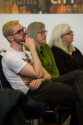 Pictured: <br /> Political scientists from the Academy of Government at the University of Edinburgh discussed the factors that influenced voters, the direction of Scottish politics, and analysed changes since the 2015 general election. Among the speakers were Dr Jan Eichhorn (University of Edinburgh), Professors Ailsa Henderson and James Mitchell (University of Edinburgh), Professor Roger Scully (University of Cardiff) and Dr Heinz Branbdenburg (Strathclyde University). Politicians joined the group discussion chaired by Mandy Rhodes (Holyrood Editort) with Marco Biagi (SNP), Nules Briggs (Conservative), Gavin Corbett (Greens), Juliet Swann (Associate Consultant at McNeill and Stone) and Martyn McCluskey (Labour) <br /> <br /> Ger Harley | EEm 13 May April 2016