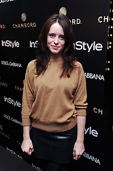 CLAIRE FOY at a party hosted by InStyle to celebrate the iconic glamour of Dolce & Gabbana held at D&G, 6 Old Bond Street, London on 3rd November 2010.