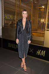 VOGUE WILLIAMS at a party to celebrate the launch of the Balmain H&M collection held at H&M Regent Street, London on 4th November 2015.