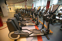 Launch of Royal Caribbean International's newest ship Allure of the Seas..Fitness Centre.